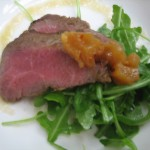 Salad of Arugula & Espresso Infused Lamb Loin
